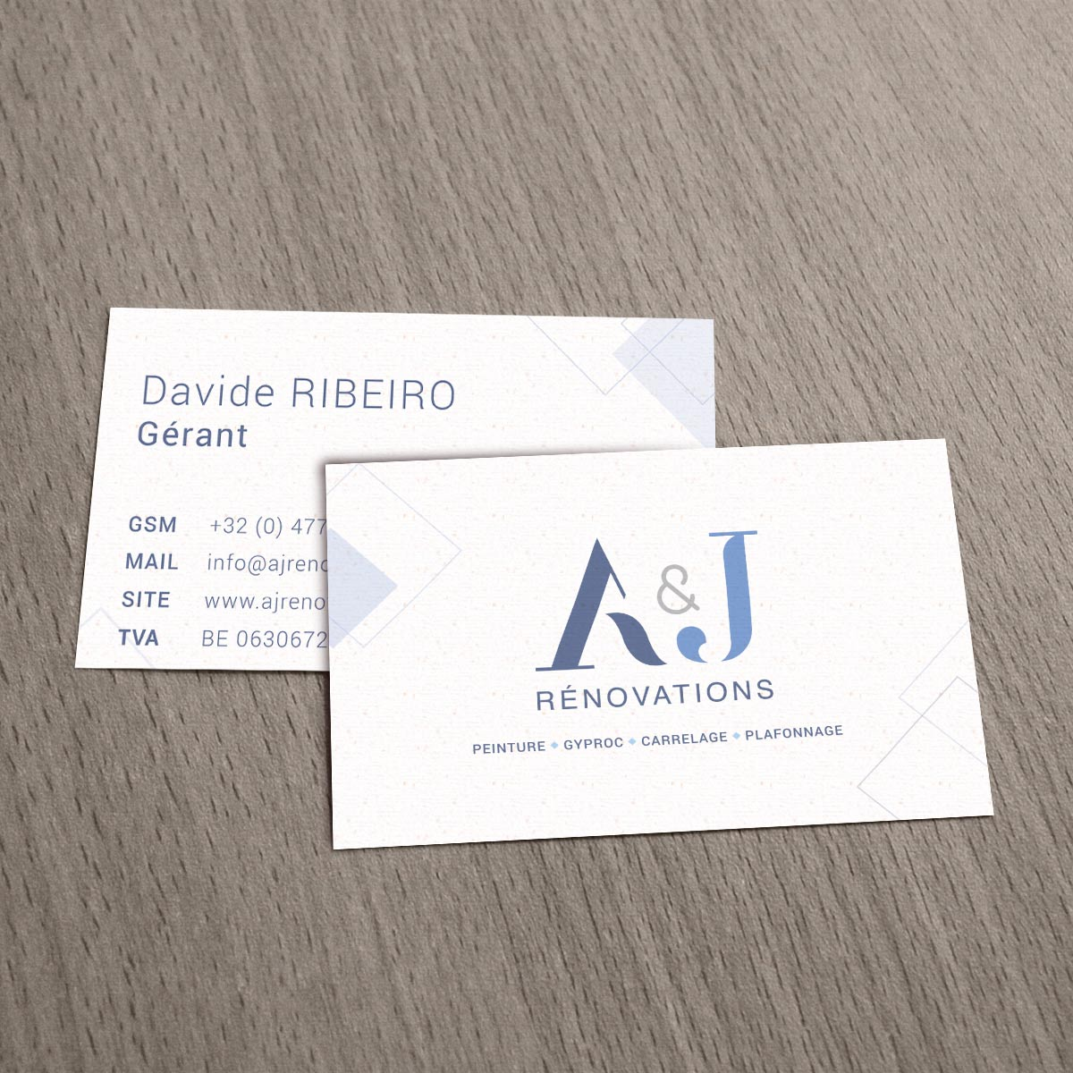 Aj Renovation Carte De Visite Logo Design Portfolio